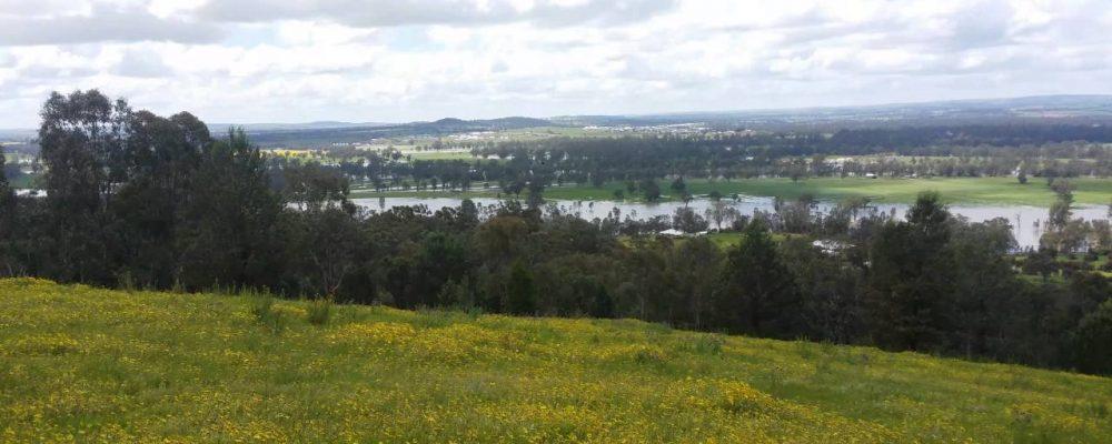 Wagga Wagga 2016 floods as seen from Pomigalarna hill.