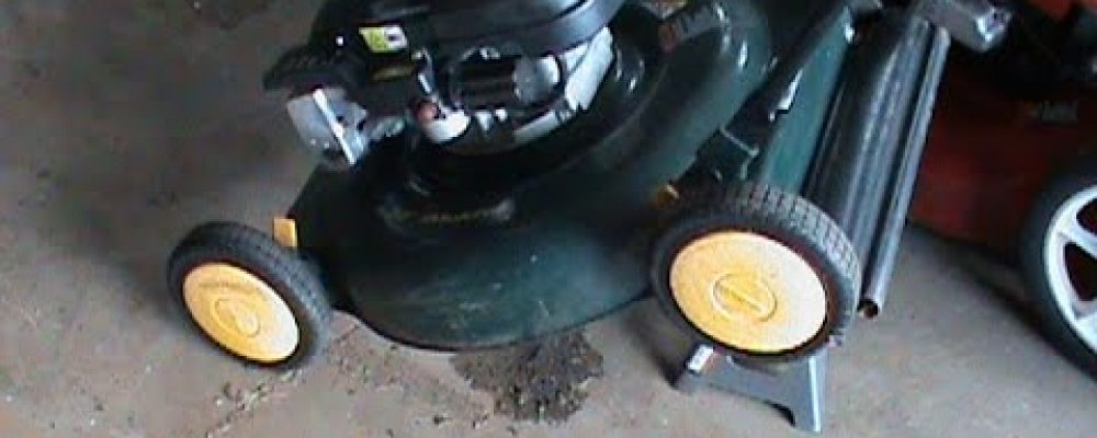How to stop your lawnmower from dripping oil