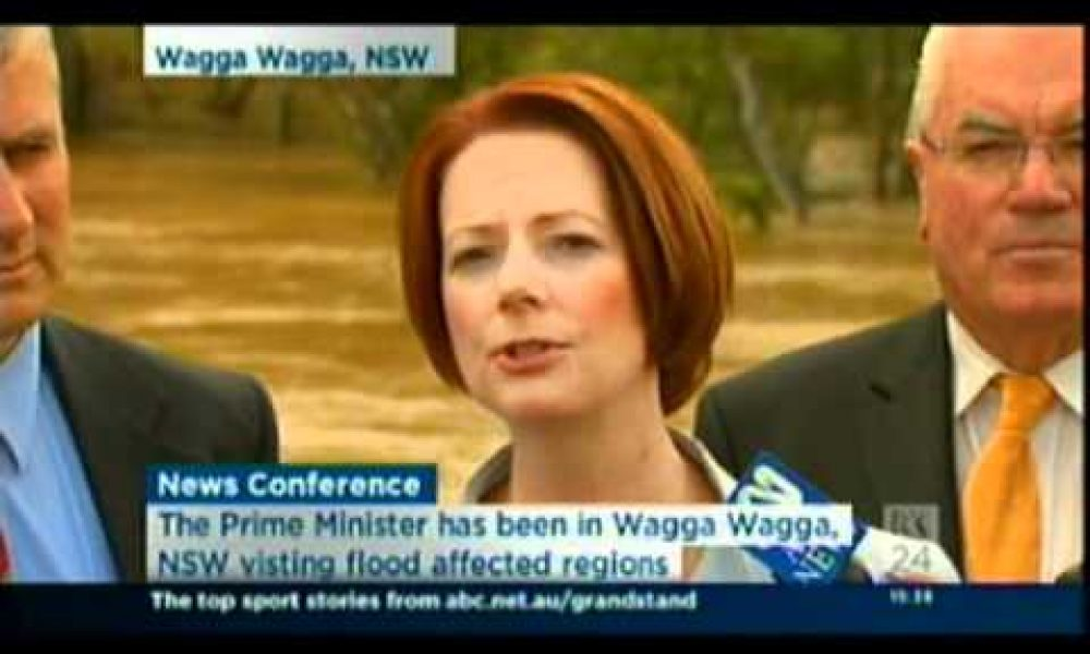 Visit to flood affected Wagga Wagga
