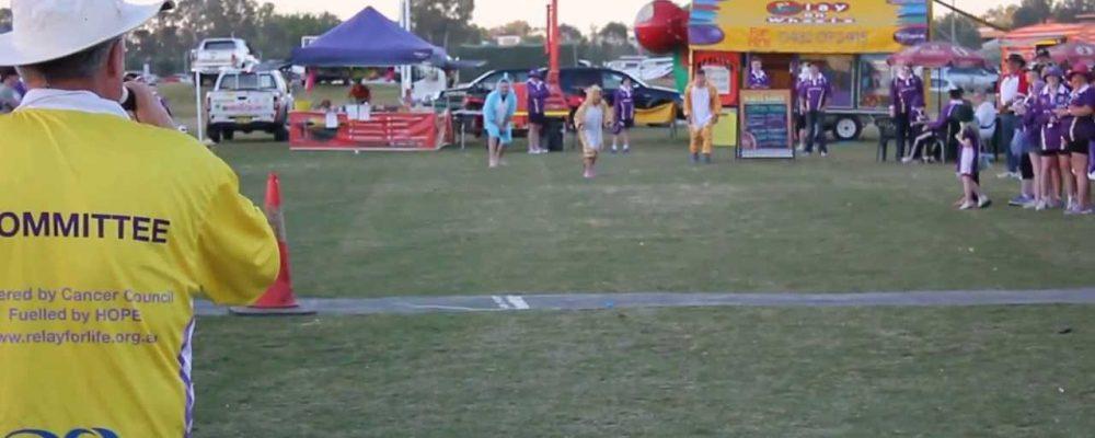 Onesies Race Final @ Wagga Wagga Relay For Life 2013