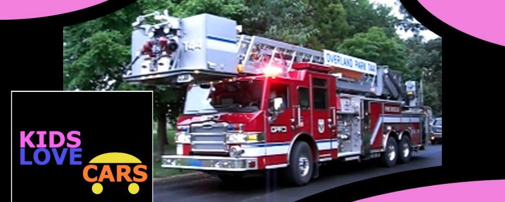 Real Fire Trucks with Sirens for Children Kids | Fire Trucks in Action Responding | Kids Love Cars 4