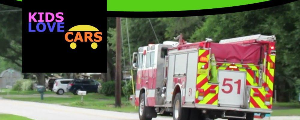 Real Fire Trucks with Sirens for Children Kids | Fire Trucks in Action Responding | Kids Love Cars 3