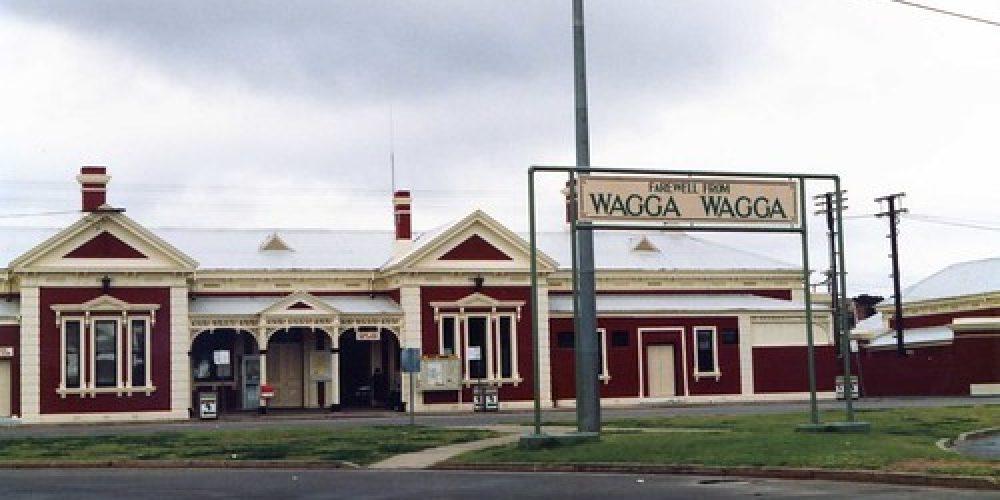 Wagga Wagga NSW railway station 1990