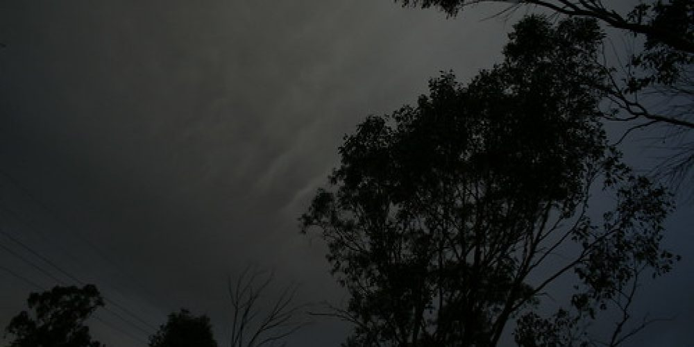 Thunderstorms approaching Wagga Wagga