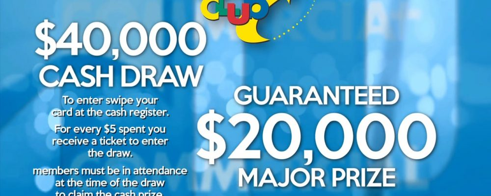 $40,000 Cash Draw at The Commercial Club July, 23rd 2016 at 7pm