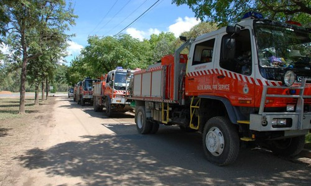 NSW RFS trucks in Wagga Wagga