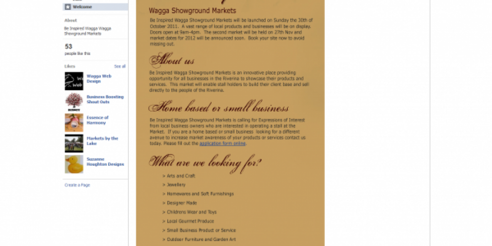 Wagga Wagga Showground Markets – Be Inspired